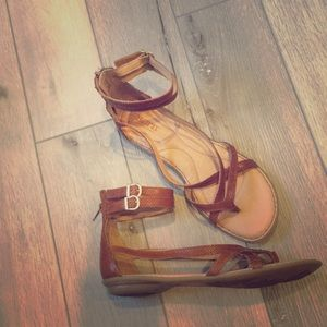 Born Brown leather sandal